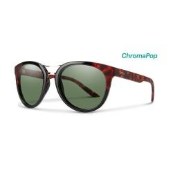 4b032caf93 Image from Smith Bridgetown ChromaPop Polarized Sunglasses (Women s) Black  Havana Gray Green