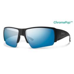 Image from Smith Captain's Choice ChromaPop+ Polarized Sunglasses (Men's) Matte Black Blue Lens