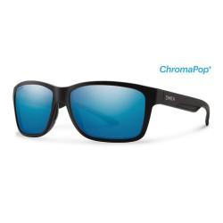 Image from Smith Drake ChromaPop+ Polarized Sunglasses (Men's) Matte Black/Blue Lens