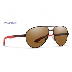 Image from Smith Salute Polarized Carbonic Sunglasses (Women's) Matte Brown Brown Lens