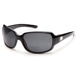 Image from Suncloud Cookie Polarized Polycarbonate Sunglasses (Women's) Black Gray +2.00