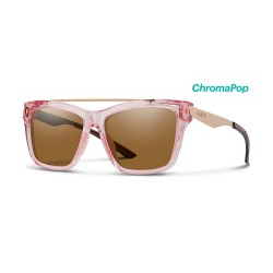 Image from Smith The Runaround ChromaPop Polarized Sunglasses (Women's) - Pink Crystal/Brown