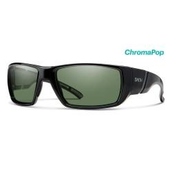 Image from Smith Transfer ChromaPop+ Polarized Sunglasses (Men's) Matte Black Gray Green Lens