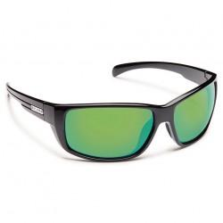 Image from Suncloud Milestone Polarized Polycarbonate Sunglasses (Men's) Black Green