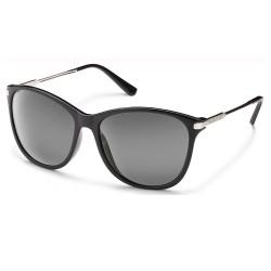 Image from Suncloud Nightcap Polarized Polycarbonate Sunglasses (Women's) Black Gray