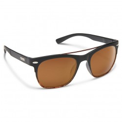 Image from Suncloud Tabor Sunglasses (Unisex) Black Tortoise Fade Brown