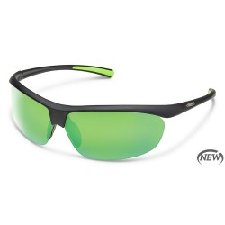 Image from Suncloud Zephyr Polarized Polycarbonate Sunglasses (Unisex) Matte Black Green