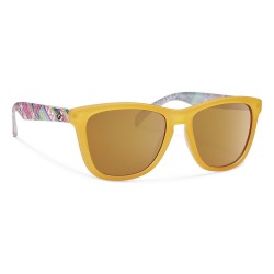 Image from Forecast Jan Polarized Polycarbonate Sunglasses (Women's) Matte Yellow Gold Lens