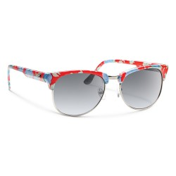 Image from Forecast Rink Polarized Polycarbonate Sunglasses (Unisex) Red Floral Gray Gradient