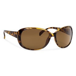Image from Forecast Brandy Polarized Polycarbonate Sunglasses (Women's) Tortoise Brown