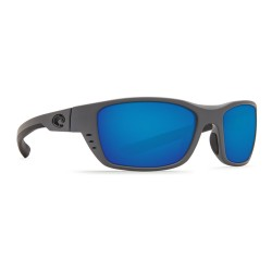 Image from Costa Whitetip Polarized Sunglasses (Men's) Matte Gray Frame with Blue Mirror