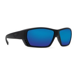 Image from Costa Tuna Alley Polarized Sunglasses (Men's) Blackout frame with Blue Mirror lenses