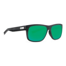 Image from Costa Baffin Polarized Sunglasses (Men's) Net Gray with Gray Rubber and Green Mirror Lenses