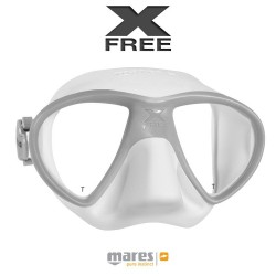 Image from Mares X-Free SF Two-Lens Low Volume Mask - White Grey