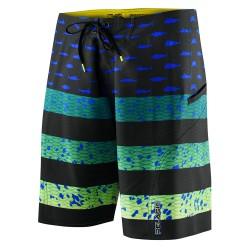 Image from PELAGIC Sharkskin Americamo Boardshorts (Boys') Green