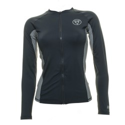 Image from EVO Delmar UPF 50+ Long-Sleeve Full Front Zip Rashguard (Women's) - Black