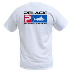 Image from Pelagic Deluxe Logo Tee - White