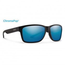 Image from Smith Drake Sunglasses with Matte Black Frames and Chromapop Blue Mirror Lens