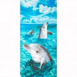 Image from Dohler Dolphins III Beach Towel