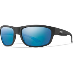Image from Smith Dover Chromapop Sunglasses with Matte Black Frames and Blue Mirror Lenses
