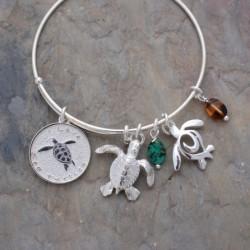 "Image from Big Blue ""I Love Sea Turtles"" Adjustable Charm Bracelet"