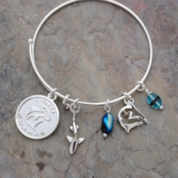 "Image from Big Blue ""I Love Sharks"" Adjustable Charm Bracelet"