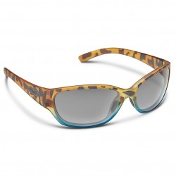 Image from Suncloud Duet Polarized Polycarbonate Sunglasses - Matte Tortoise Blue Fade/Gray