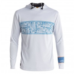 Image from Quiksilver Waterman Hooked Hooded UPF 40 Long-Sleeved Rashguard (Men's)