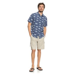 Image from Quiksilver Waterman Wake Lures Short-Sleeve Button Down Top (Men's)