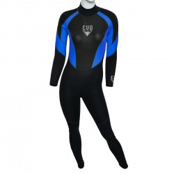 Image from EVO 3mm Womens Scuba Wetsuit blue front