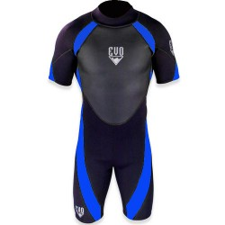 Image from EVO 3mm Mens Shorty Wetsuit Blue
