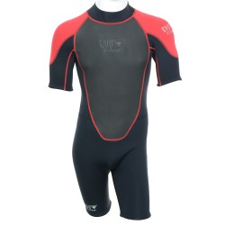 Image from SALE! EVO Elite 3mm Shorty Wetsuit (Men s) - Red Black 3bee01295