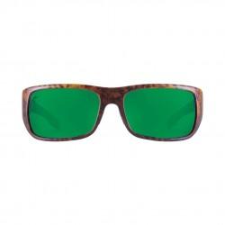 Image from Pelagic Fish Hook Sunglasses - Matte Tortoise Frames with Green Glass Lenses
