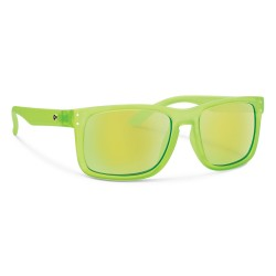 Image from Forecast Optics Sunglasses Clyde - Matte Lime/ Green Mirror