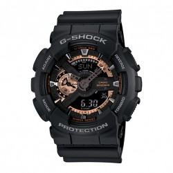 Image from Casio G-Shock GA-110 Series Sports Analog-Digital Dive Watch (Men's) - Black/Gold