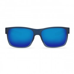 Image from Costa Half Moon 580 Polarized Polycarbonate Sunglasses - Bahama Blue Fade / Blue Mirror