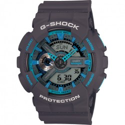 Image from G-SHOCK GA110TS Grey & Blue Dive Watch
