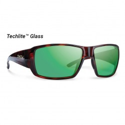 Image from Smith Guide's Choice Polarized Techlite Glass Sunglasses (Men's) - Havana/Green Mirror