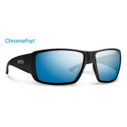 Image from Smith Guide's Choice ChromaPop+ Polarized Sunglasses (Men's) - Matte Black/Blue Mirror