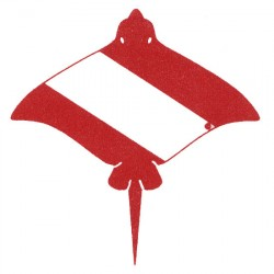 Image from Innovative Scuba Concepts Stingray Dive Flag Waterproof Vinyl Sticker
