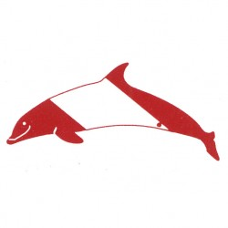 Image from Innovative Scuba Concepts Die-cut Dolphin Bumper Sticker