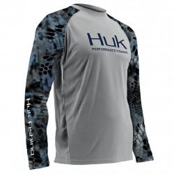 Image from Huk Performance Kryptek Vented +30 UPF Long-Sleeve Sunshirt (Men's)