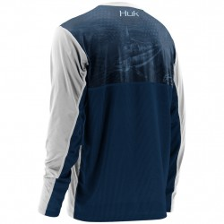 Image from Huk KC Scott Blue One Long Sleeve Graphic Performance T-shirt (Men's)