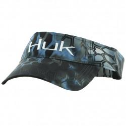 Image from Huk Kryptek Logo Adjustable Velcro Visor (Men's) - Neptune