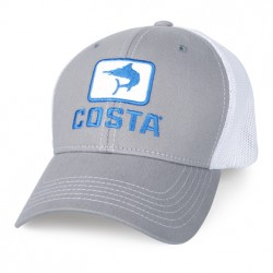 Image from Costa Marlin Fitted Stretch Mesh Trucker Hat (Men's) - Grey/White