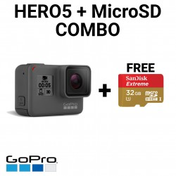 Image from GoPro Hero5 Black with FREE 32GB MicroSD Card Combo Package