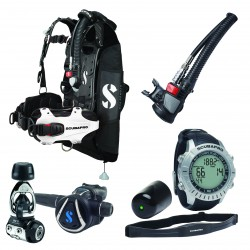 Image from ScubaPro Hydros Pro Modular Travel Scuba Package (Women's) with MK11/C370 Regulator, Air2 Inflator/Octo, M2 Wrist Computer