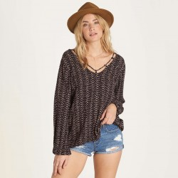 Image from Billabong Winding Roads V-Neck Peasant Top (Women's)