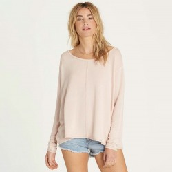 Image from Billabong From Here Knit Long-Sleeved Open-Backed Lounge Top (Women's)