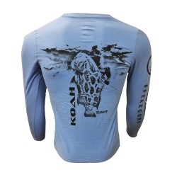 Image from Koah Spearfishing X-DRI Performance Shirt - Grouper/Victory Carolina Blue
